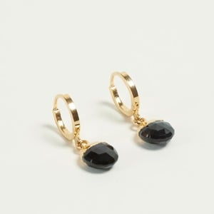 EARRINGS BLACK - Lou yetu