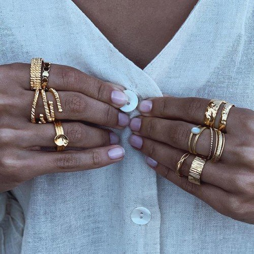// 10 FINGERS // Is not enough ? Our little jewels born to be worn. Gold plated 3 microns • Made in Paris with love ️